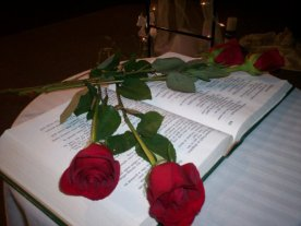 Rose Bible for Ceremony